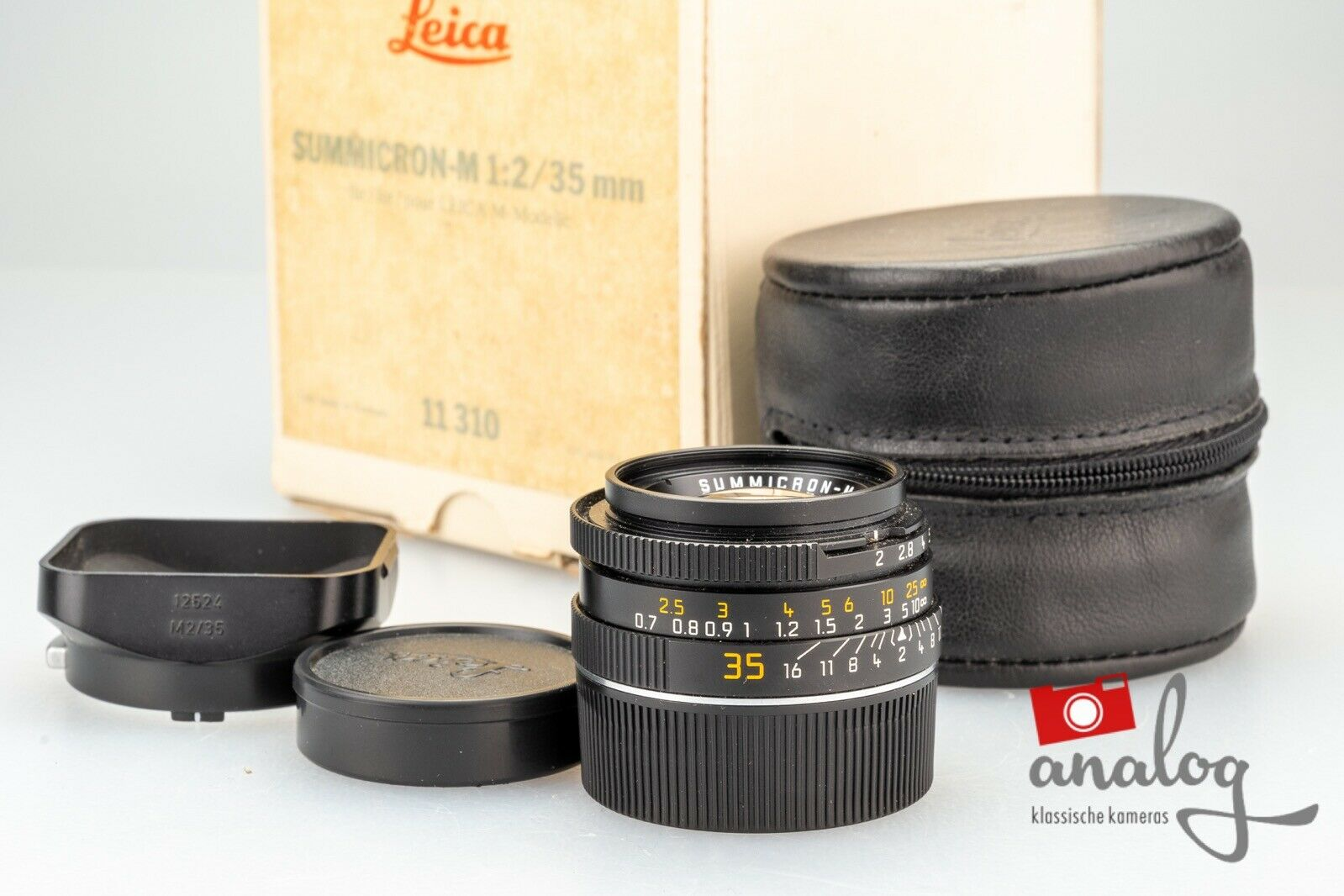 """Leica Summicron-M 35mm 2.0 E39 (IV) - """"King of Bokeh"""" - 11310 - Made in Germany"""