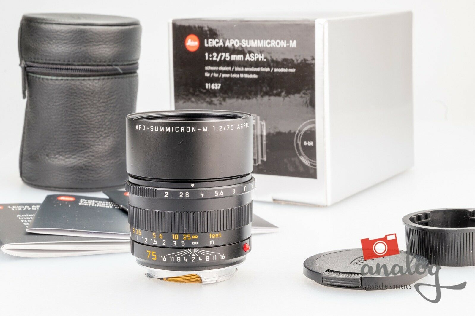 Leica APO-Summicron-M 75mm 2.0 ASPH. - 11637 - TOPZUSTAND