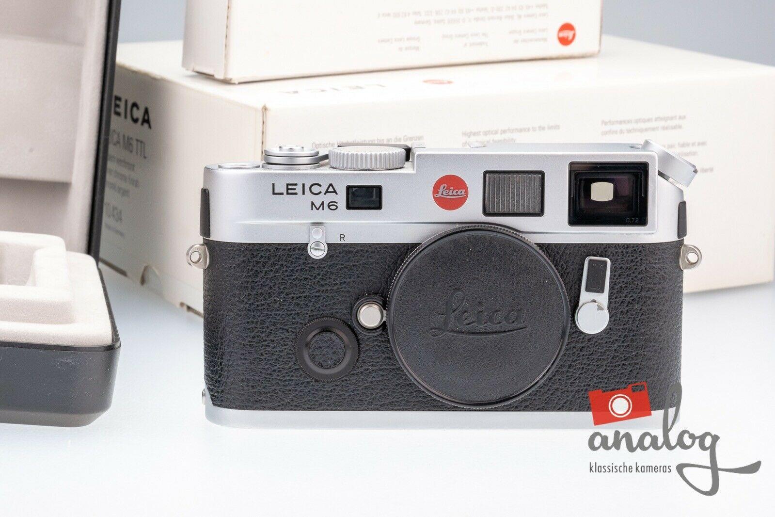 Leica M6 TTL 0.72 silbern verchromt - 10434 - MP Sucher - TOPZUSTAND