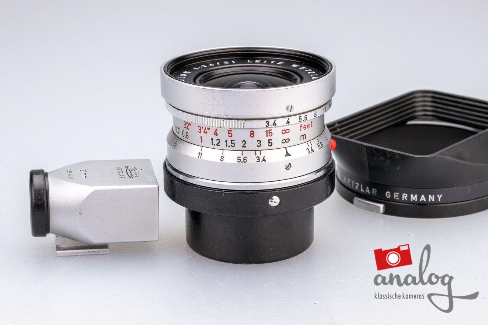 Leica Super-Angulon 21mm 3.4 - 11103 chrome - werkstattüberholter Topzustand
