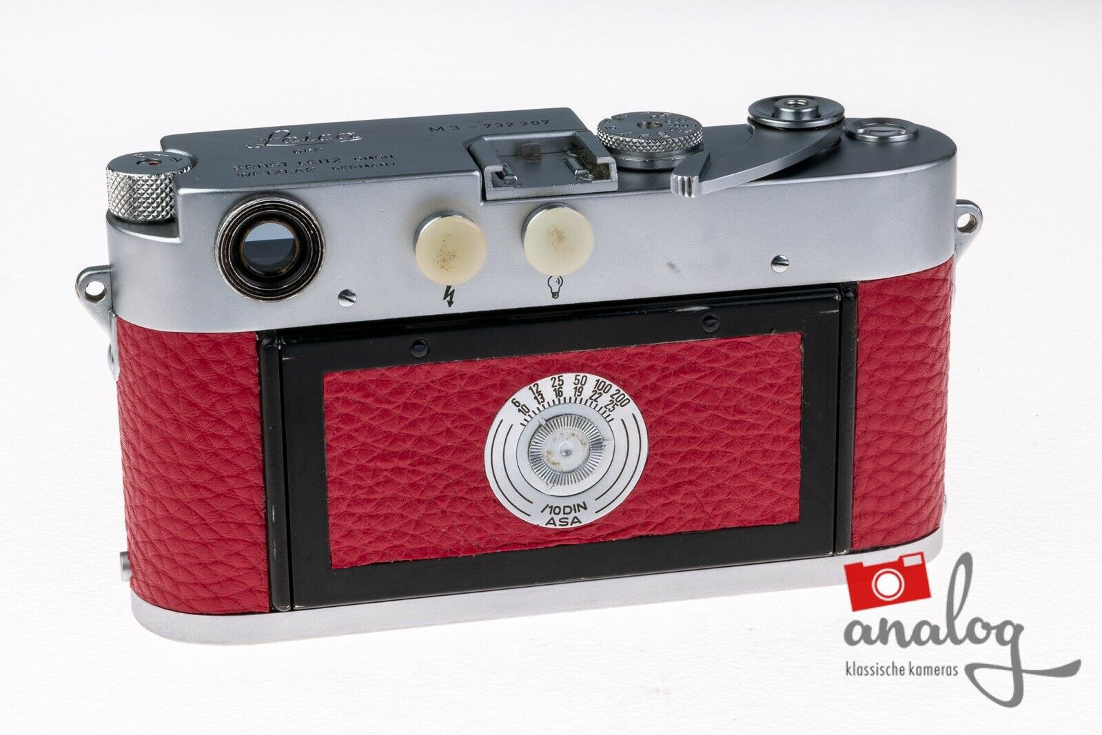 """Leica M3 Double Stroke - werkstattüberholt - neue Belederung """"@nalog-Edition"""""""