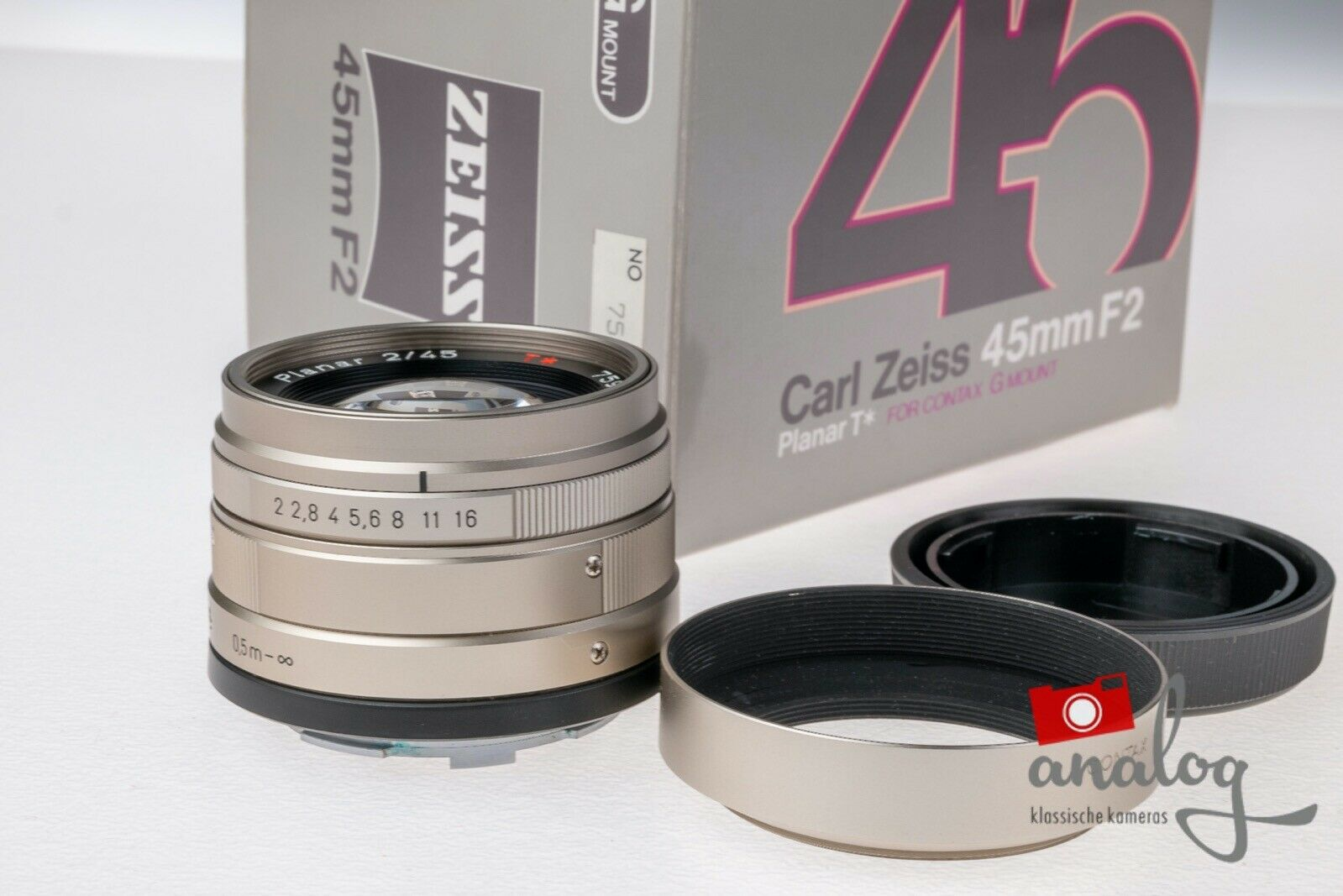 Contax Carl Zeiss Planar 45mm 2.0 für Contax G1 / Contax G2
