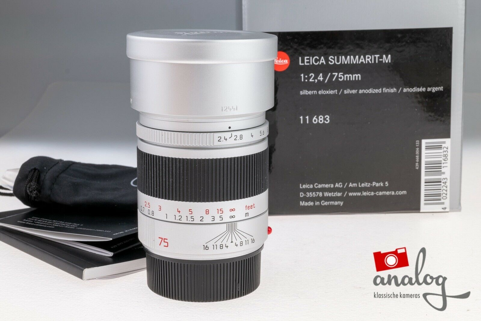 Leica Summarit-M 75mm 2.4 - 11683