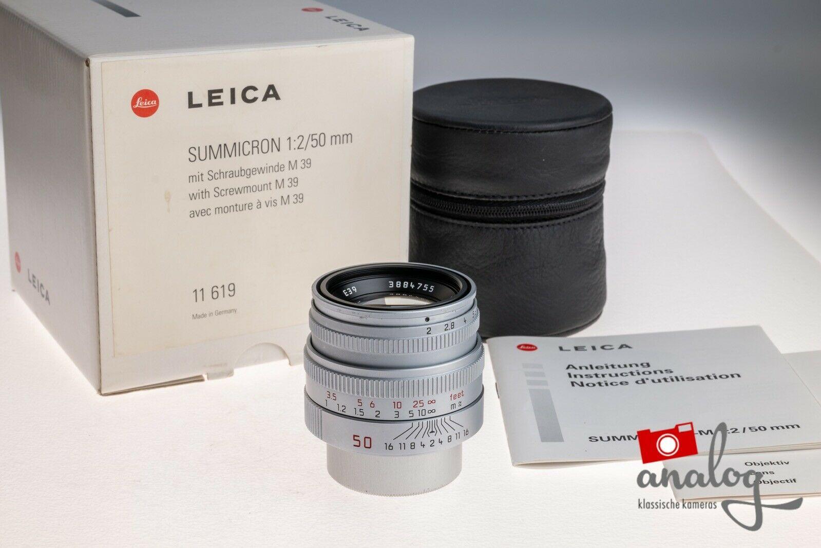 Leica Summicron 50mm 2.0 M39 - 11619