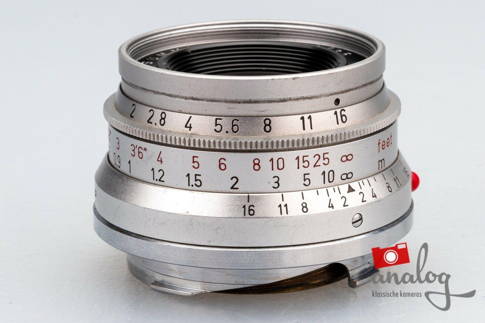 Leica Summicron 35mm 2.0 SAWOM 11308 8-Elements - werkstattüberholter Topzustand