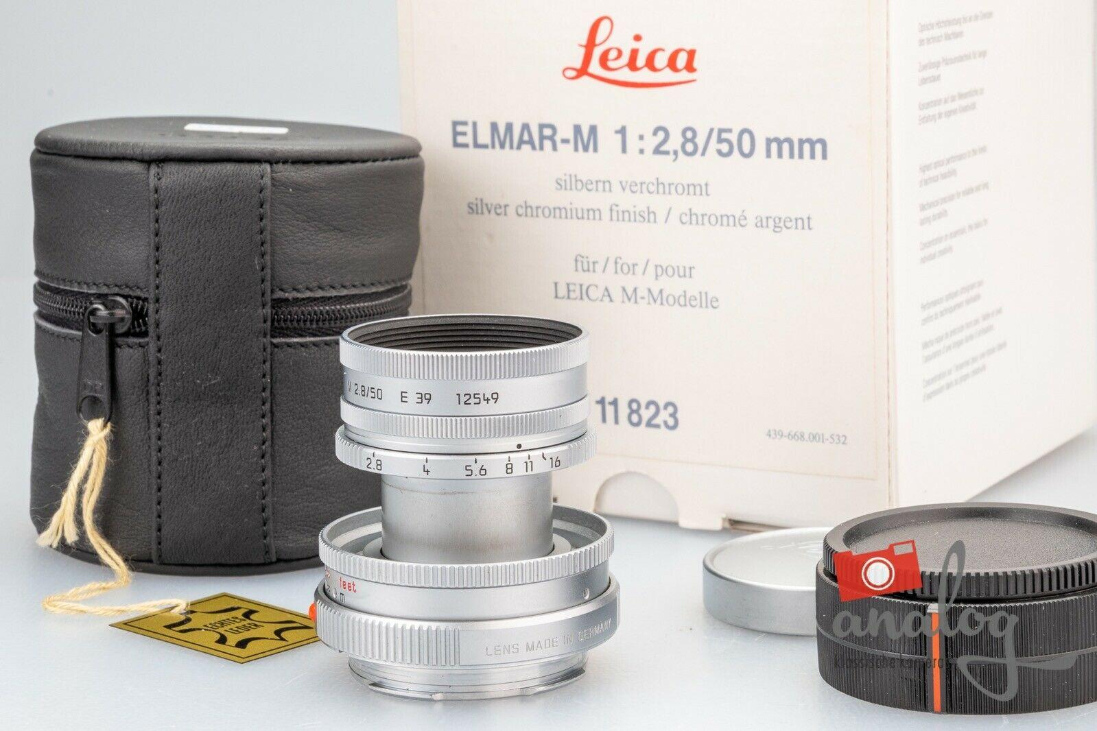 Leica Elmar-M 50mm 2.8 silbern verchromt - 11823 -  E39
