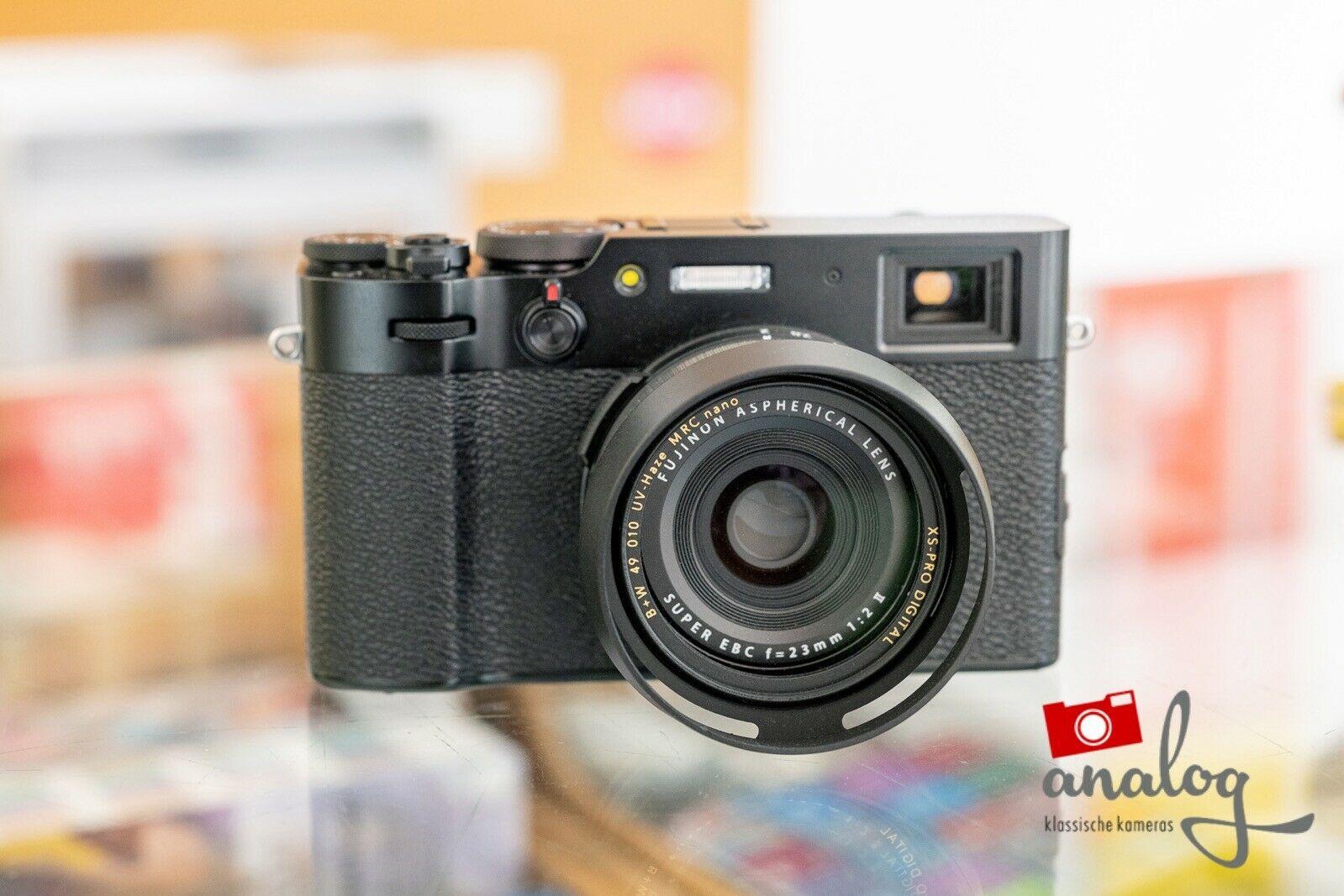 Fujifilm X100V schwarz - NEU - Zubehörpaket mit Zusatzakku
